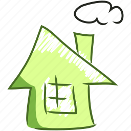 building, handdraw, home, house, mix, town, villa icon