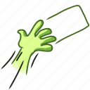 card, credit, give, hand, handdraw, mix, pass icon