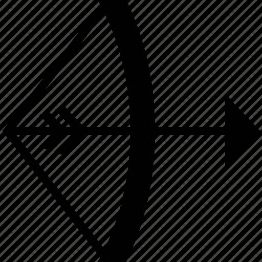 arrow, bow, history, weapon, wsd icon