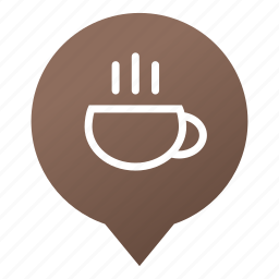 coffee, coffee house, coffee shop, cup, drink, markers, wsd icon