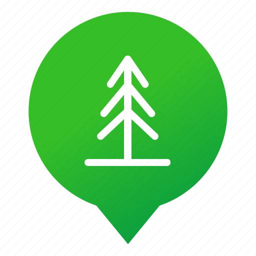 forest, markers, nature, plant, tree, verdure, wsd icon