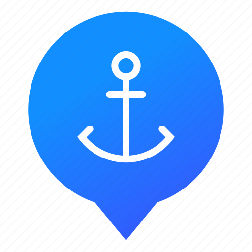anchor, boat, cruise, harbor, haven, ship, wsd icon