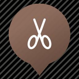 cut, hair salon, markers, salon, scissors, tool, wsd icon