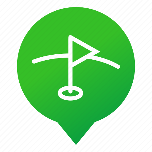 flag, golf, green, markers, play, sport, wsd icon