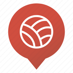 ball, markers, skein, sport, volley-ball, volleyball, wsd icon