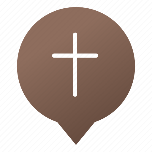 church, cross, faith, markers, pin, religion, wsd icon
