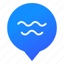markers, ocean, pool, sea, water, waves, wsd icon