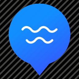 markers, ocean, pool, sea, water, waves, wsd icon