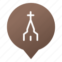 christian, church, cross, faith, markers, religion, wsd icon