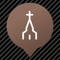 christian, church, cross, faith, markers, religion, wsd icon