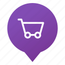 basket, buy, markers, shop, shopping, store, wsd icon