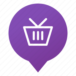 basket, cart, markers, shop, shopping, store, wsd icon