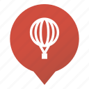 balloon, flight, markers, sightseeing flight, transport, travel, wsd icon