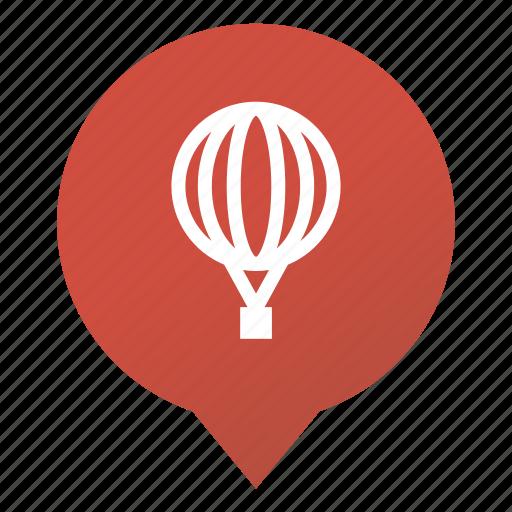 balloon, flight, markers, sightseeing flight, transport, travel, wsd icon