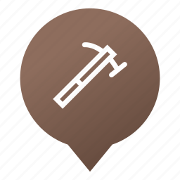 construction, hammer, handy man, markers, tool, work, wsd icon