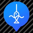 fish, fishing, lake, markers, pond, water, wsd icon