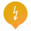electricity, energy, flash, lightning bolt, ligtning, markers, wsd icon