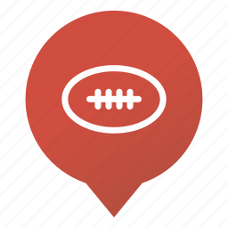 american football, ball, game, markers, rugby, sport, wsd icon