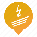 electricity, energy, flash, markers, wire, wiring, wsd icon