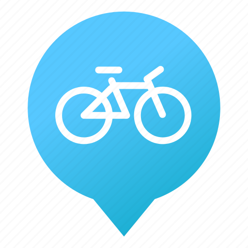 bicycle, cyclist, markers, recreation, sport, transport, wsd icon