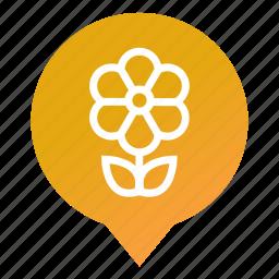 cultivation, flower, garden, gardening, markers, park, wsd icon
