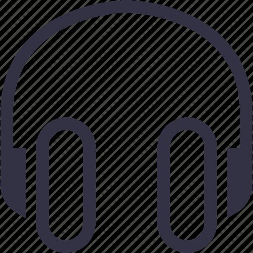 earphones, headphones, listening, music, portal, sound, technology icon