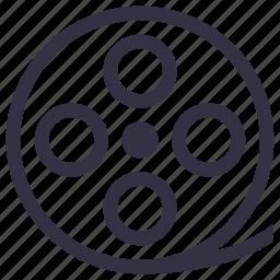 cinema, film, movie, negative, portal, show, wheel icon
