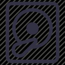 backup, data, hard drive, hdd, portal, storage, technology icon