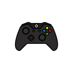 black, controller, gamer, original, xbox one icon