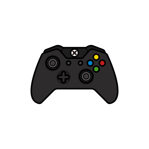 black, controller, gamer, original, xbox one icon