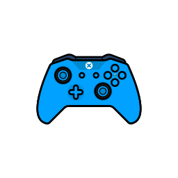 blue, controller, gamer, xbox one icon