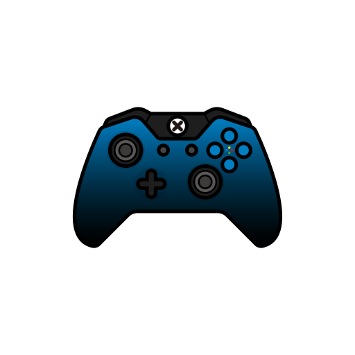 blue, controller, dusk, gamer, xbox one icon