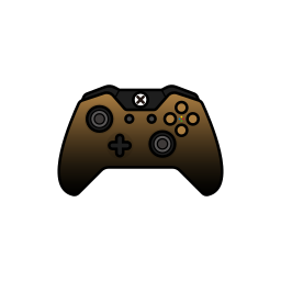 controller, dusk, gamer, gold, xbox one icon