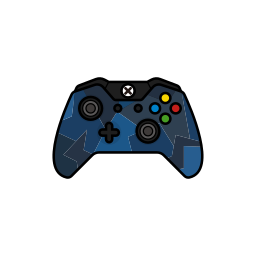 blue, controller, force, gamer, xbox one icon