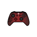 controller, xbox one, gamer, red, gear