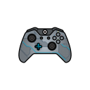 blue, controller, gamer, halo, xbox one icon