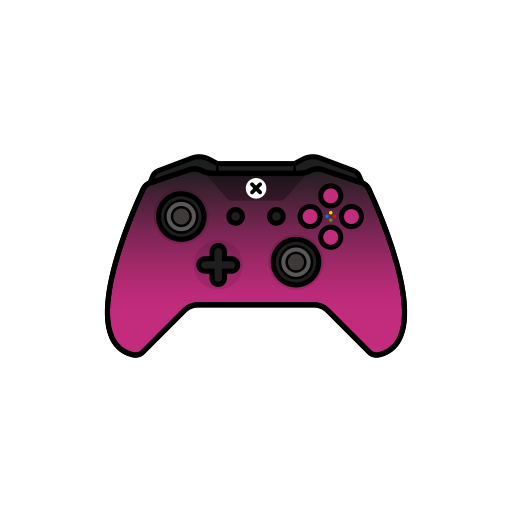 controller, gamer, pink, shadow, xbox one icon