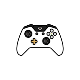 controller, gamer, lunar, white, xbox one icon