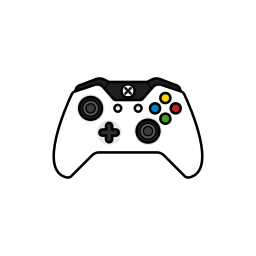 controller, controllers, gamer, white, xbox one icon