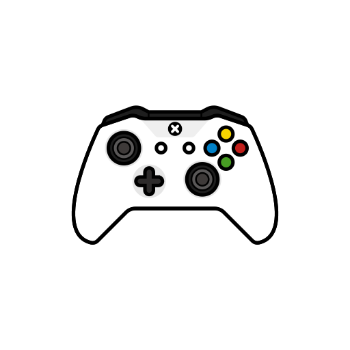 controller, gamer, new, white, xbox one icon