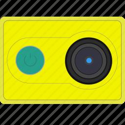 cam, camera, gopro, green, mi, xiaomi, yi icon