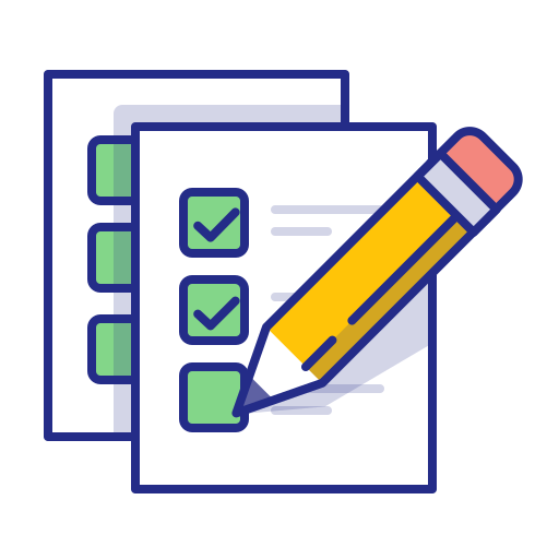 checkmark, done, exam, list, pencil, todo icon