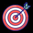 target, strategy, aim, purpose, arrow, bullseye icon