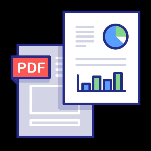 analytics, docs, documents, graph, pdf, report, statistics icon