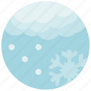 cloud, forecast, light, snow, weather icon