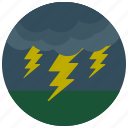 cloud, forecast, lightening, weather icon