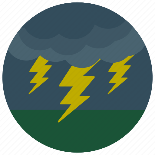 forecast, lightening, weather icon