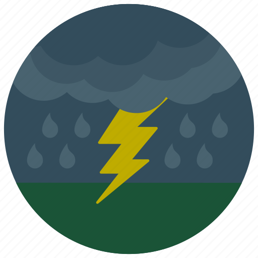 forecast, lightening, rain, storm, weather icon