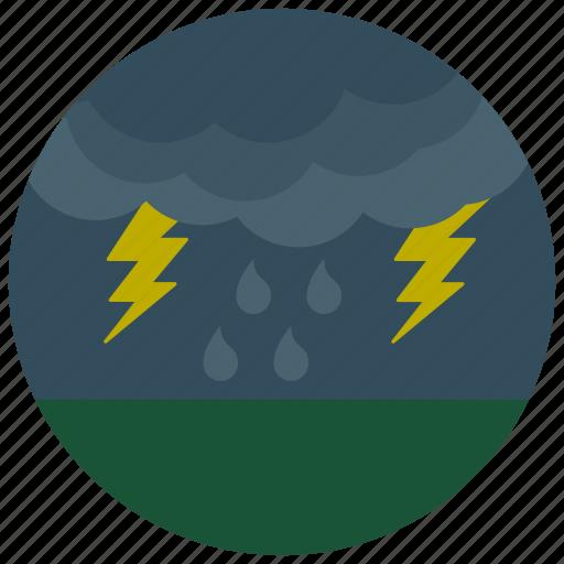forecast, lightening, storm, weather icon