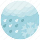 forecast, rain, snowflake, weather icon